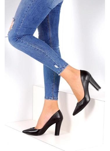 Pembe Potin A2030-18 Kadın Ayakkabı A2030-18 Siyah
